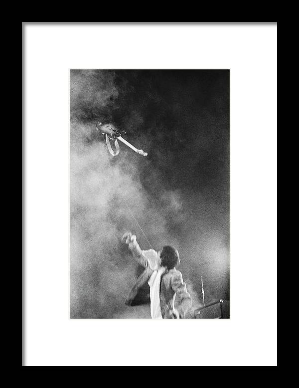 Rock Music Framed Print featuring the photograph The Who Performing In Flint, Mi by Michael Ochs Archives