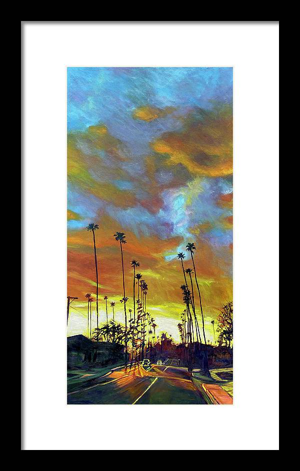 Twilight Framed Print featuring the painting The Whole Picture by Bonnie Lambert