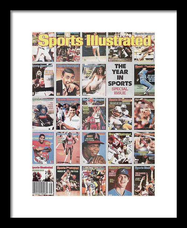 1980-1989 Framed Print featuring the photograph The Year In Sports Issue... Sports Illustrated Cover by Sports Illustrated