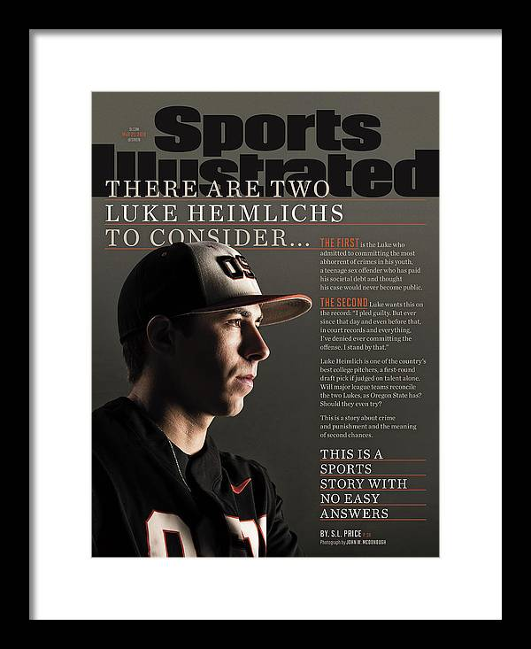 Magazine Cover Framed Print featuring the photograph There Are Two Luke Heimlichs To Consider... Sports Illustrated Cover by Sports Illustrated