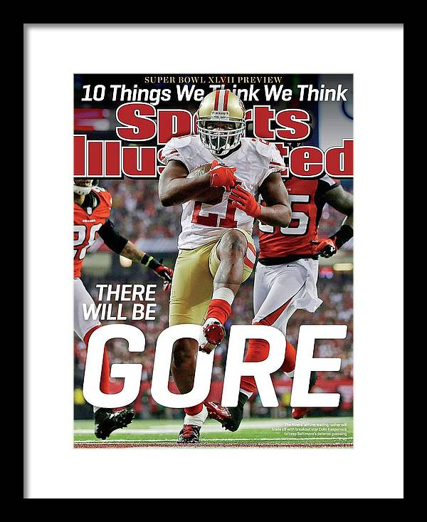 Atlanta Framed Print featuring the photograph There Will Be Gore Super Bowl Xlvii Preview Issue Sports Illustrated Cover by Sports Illustrated