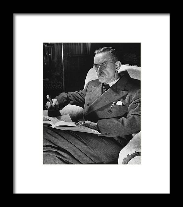 Timeincown Framed Print featuring the photograph Thomas Mann by Carl Mydans