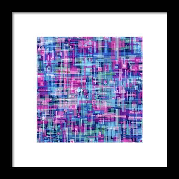 Nonobjective Framed Print featuring the digital art Thought Patterns #4 by James Fryer