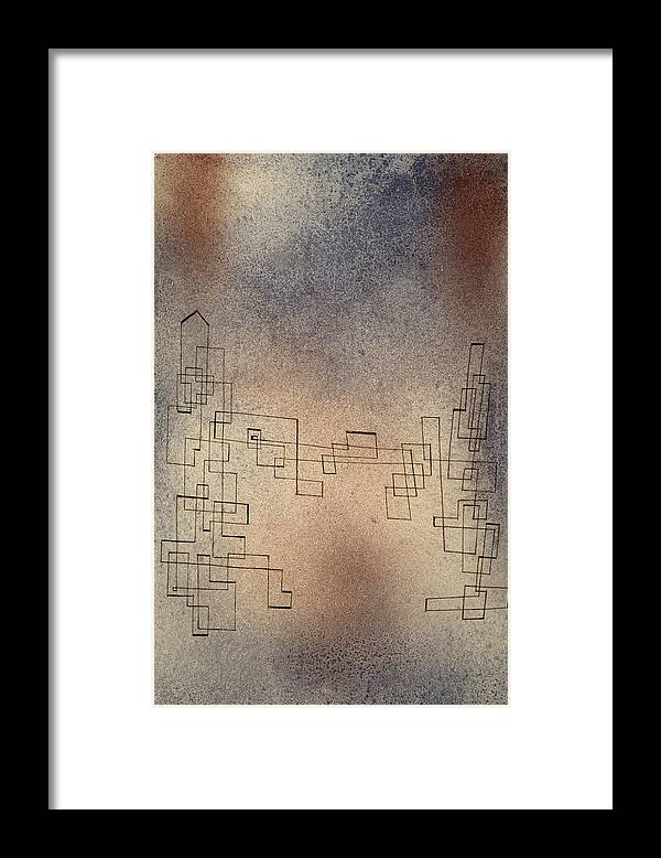 Paul Klee Framed Print featuring the painting Threatening Snowstorm, 1927 by Paul Klee