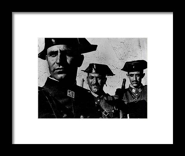 Timeincown Framed Print featuring the photograph Three Members Of Dictator Francos Feare by W. Eugene Smith