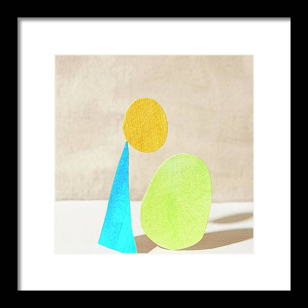 Art Framed Print featuring the photograph Three Shapes Made Of Paper by Tara Moore
