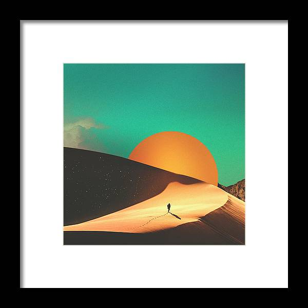 Collage Framed Print featuring the digital art Thrist by Fran Rodriguez