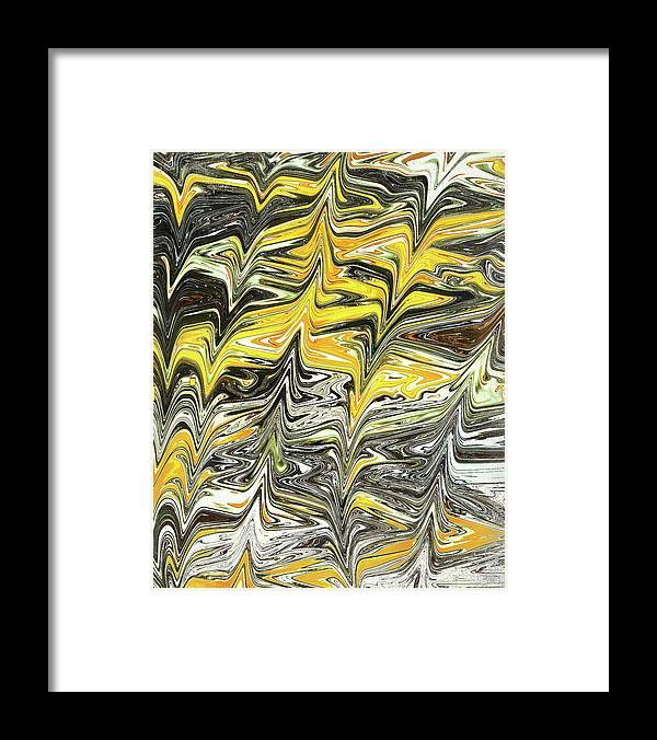 Abstract Framed Print featuring the digital art Thunderstruck by Jack Entropy