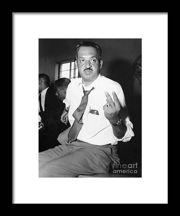 Atlanta Framed Print featuring the photograph Thurgood Marshall At Naacp Meeting by Bettmann