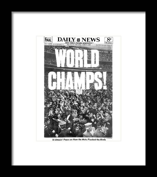 American League Baseball Framed Print featuring the photograph Ticker Tape Cascading On Lower Broadway by New York Daily News Archive