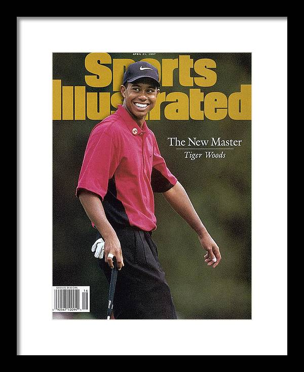 Magazine Cover Framed Print featuring the photograph Tiger Woods, 1997 Masters Sports Illustrated Cover by Sports Illustrated