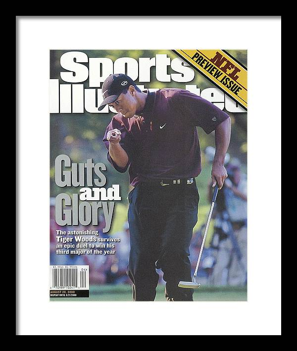 Magazine Cover Framed Print featuring the photograph Tiger Woods, 2000 Pga Championship Sports Illustrated Cover by Sports Illustrated