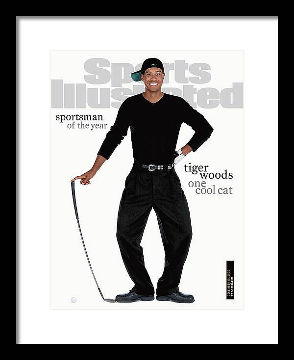 Magazine Cover Framed Print featuring the photograph Tiger Woods, 2000 Sportsman Of The Year Sports Illustrated Cover by Sports Illustrated