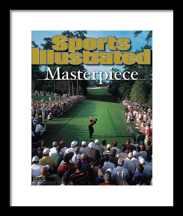 Magazine Cover Framed Print featuring the photograph Tiger Woods, 2001 Masters Sports Illustrated Cover by Sports Illustrated