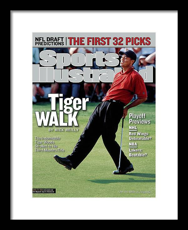 Magazine Cover Framed Print featuring the photograph Tiger Woods, 2002 Masters Sports Illustrated Cover by Sports Illustrated