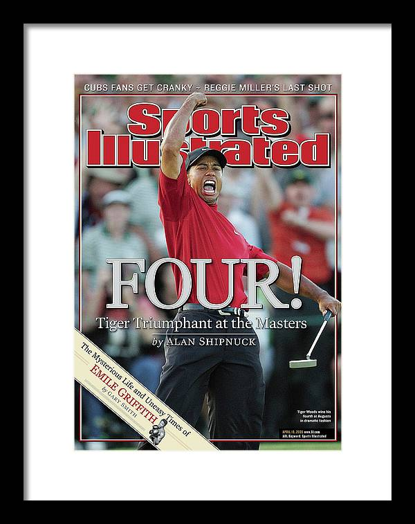 Magazine Cover Framed Print featuring the photograph Tiger Woods, 2005 Masters Sports Illustrated Cover by Sports Illustrated