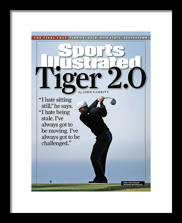 Magazine Cover Framed Print featuring the photograph Tiger Woods, 2007 Buick Invitational Practice Round Sports Illustrated Cover by Sports Illustrated