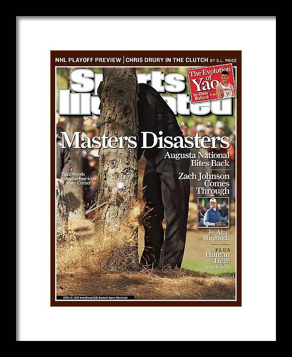 Magazine Cover Framed Print featuring the photograph Tiger Woods, 2007 Masters Sports Illustrated Cover by Sports Illustrated