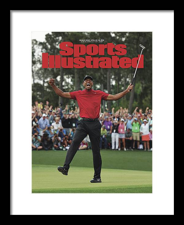 Magazine Cover Framed Print featuring the photograph Tiger Woods, 2019 Masters Tournament Champion Sports Illustrated Cover by Sports Illustrated