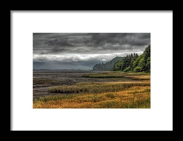 Scenics Framed Print featuring the photograph Tillamook Estuary by Photo By Ryan J. Zeigler