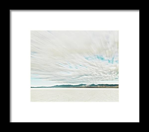 Tranquility Framed Print featuring the photograph Time Exposure Clouds In Motion Above by Andy Ryan