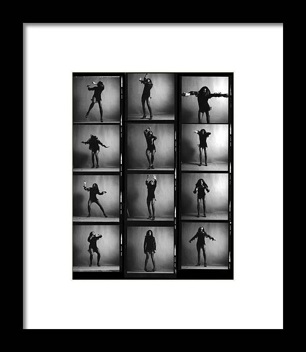 Singer Framed Print featuring the photograph Tina Turner Contact Sheet by Jack Robinson
