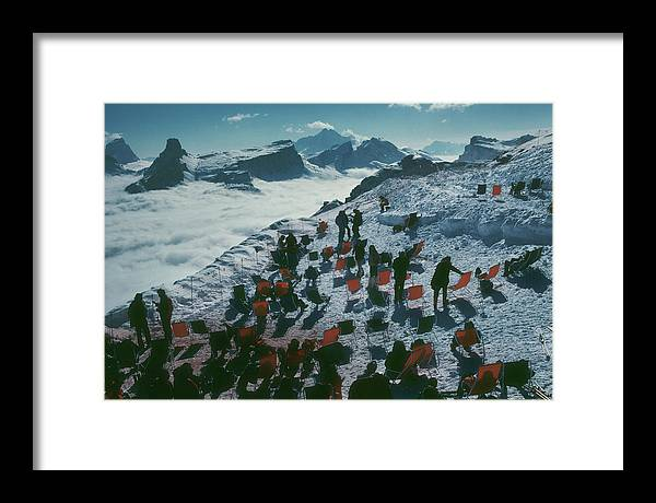 1988 Framed Print featuring the photograph Tofana Ledge by Slim Aarons