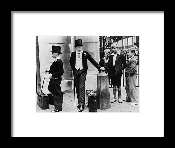 Education Framed Print featuring the photograph Toffs And Toughs by Jimmy Sime