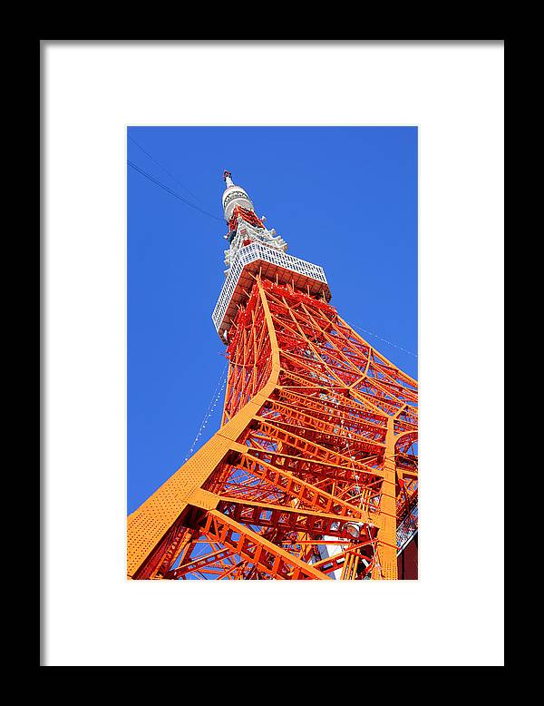 Tokyo Tower Framed Print featuring the photograph Tokyo Tower by Ngkaki