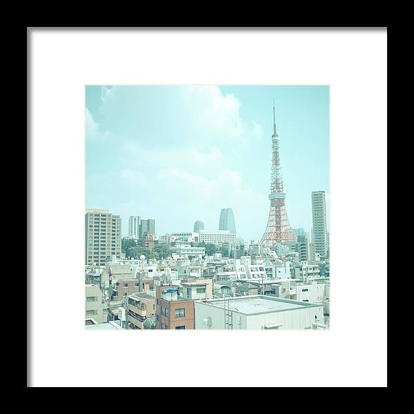 Tokyo Tower Framed Print featuring the photograph Tokyo Tower by Shigeto Sugita