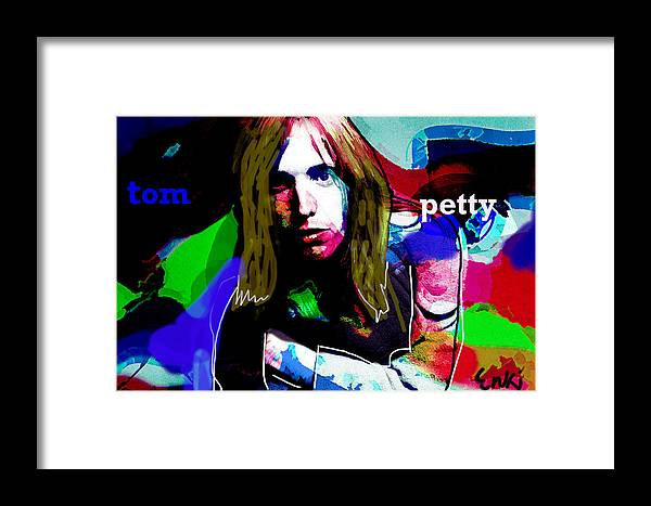 Tom Petty Framed Print featuring the painting Tom Petty By 3nki by Enki Art