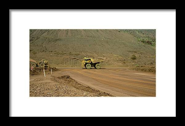 Southern Hemisphere Framed Print featuring the photograph Tom Price Earthmover by Samvaltenbergs