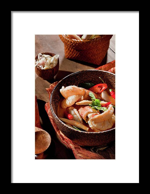 Asian And Indian Ethnicities Framed Print featuring the photograph Tom Yum Kung by Shutterworx