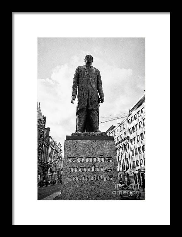 Statue Framed Print featuring the photograph Tomas Daibis Thomas Davis Statue On College Green Dublin Dublin Republic Of Ireland Europe by Joe Fox