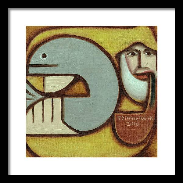 Fisherman Framed Print featuring the painting Tommervik Old Fisherman Pipe Art Print by Tommervik