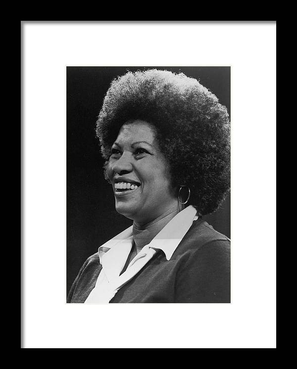 Toni Morrison Framed Print featuring the photograph Toni Morrison by Archive Photos