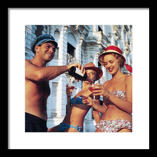 1950-1959 Framed Print featuring the photograph Top Up by Slim Aarons
