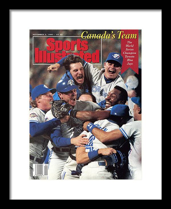 Atlanta Framed Print featuring the photograph Toronto Blue Jays Joe Carter, 1992 World Series Sports Illustrated Cover by Sports Illustrated