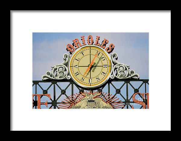 American League Baseball Framed Print featuring the photograph Toronto Blue Jays V Baltimore Orioles by Jamie Squire