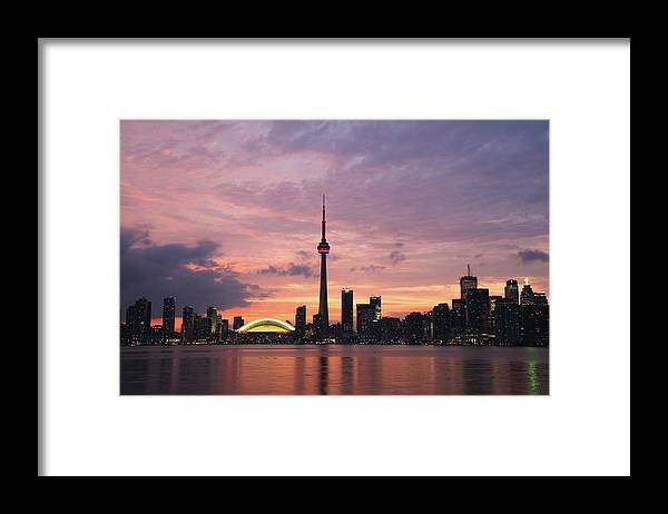 Lake Ontario Framed Print featuring the photograph Toronto by Js`s Favorite Things