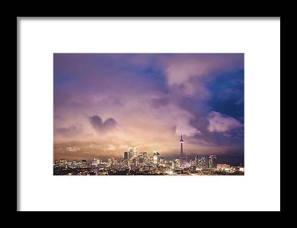 Toronto Framed Print featuring the photograph Toronto Love by Richard Gottardo - Info@richardgottardo.com