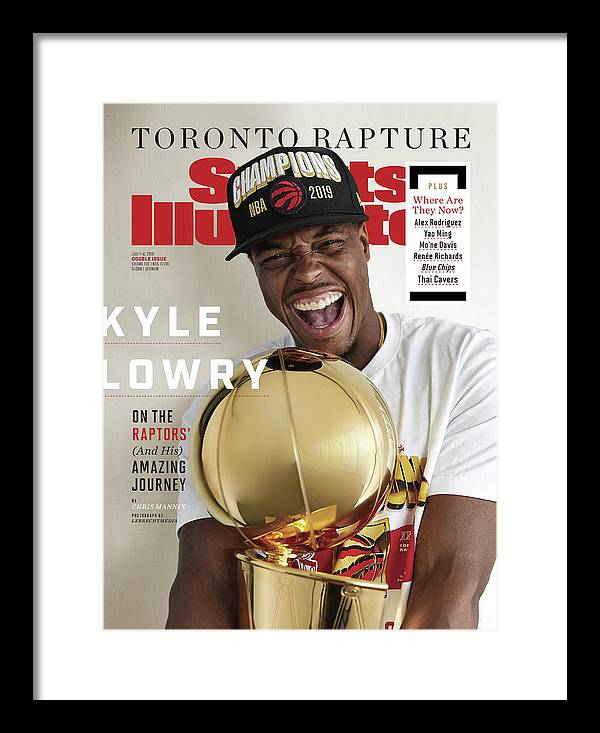 Point Guard Framed Print featuring the photograph Toronto Rapture Kyle Lowry On The Raptors And His Amazing Sports Illustrated Cover by Sports Illustrated