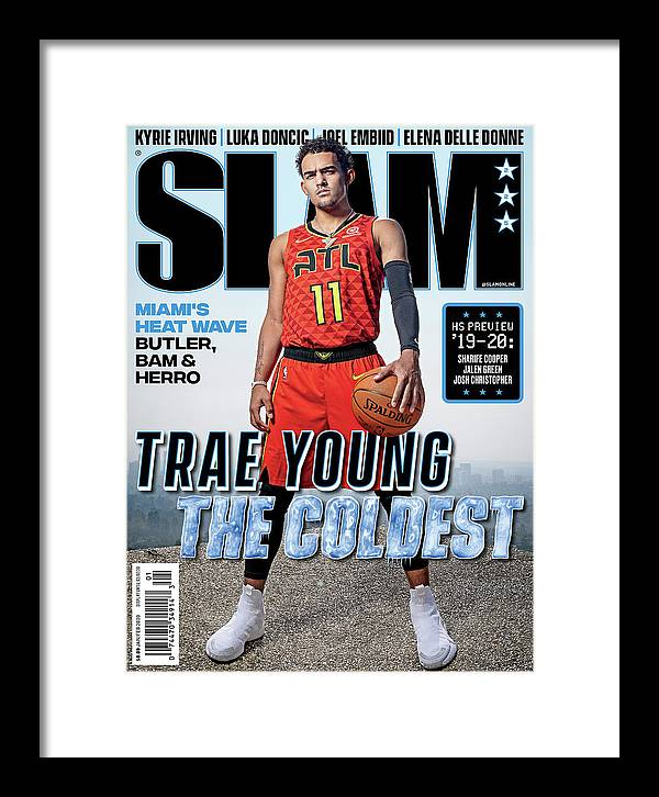 Trae Young Framed Print featuring the photograph Trae Young: The Coldest SLAM Cover by Atiba Jefferson