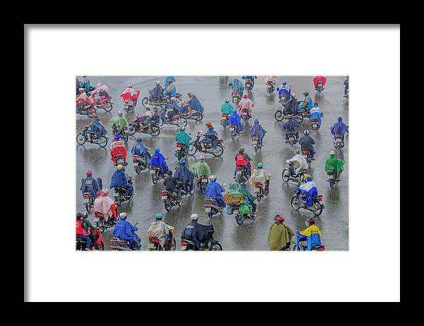 Ho Chi Minh City Framed Print featuring the photograph Traffic In Ho Chi Minh City by Rwp Uk
