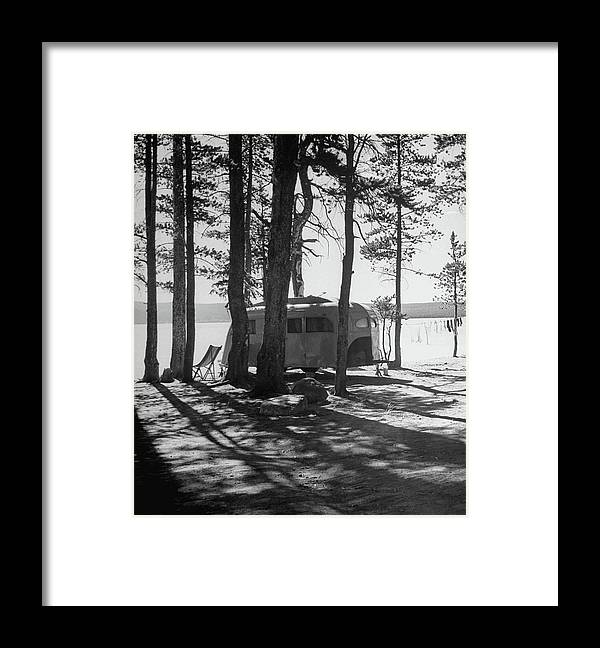 Timeincown Framed Print featuring the photograph Trailer Park In Yellowstone National by Alfred Eisenstaedt