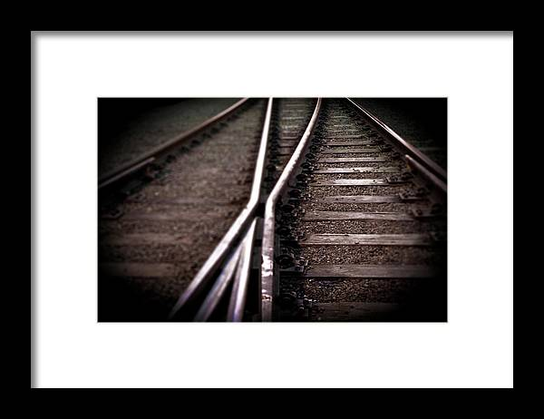Freight Transportation Framed Print featuring the photograph Train Line Crossing by Mikulas1