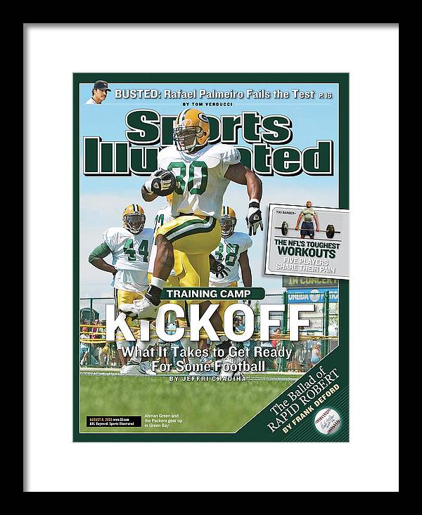 Green Bay Framed Print featuring the photograph Training Camp Kickoff What It Takes To Get Ready For Some Sports Illustrated Cover by Sports Illustrated