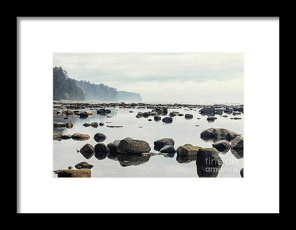 Trail Framed Print featuring the photograph Tranquil Sea Water Surface Landscape by Anton Bielousov