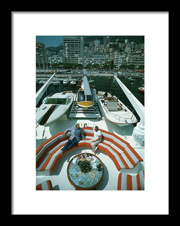 People Framed Print featuring the photograph Transport Buffs by Slim Aarons