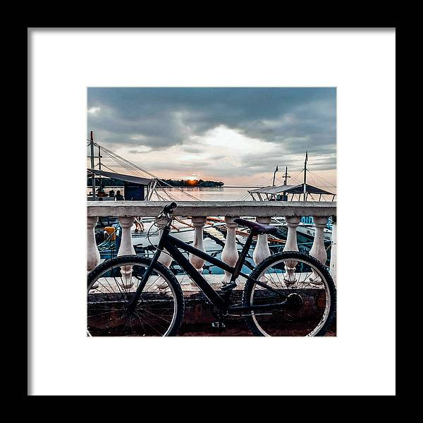 Bike Framed Print featuring the photograph Traveller's Point by Dynz Abejero